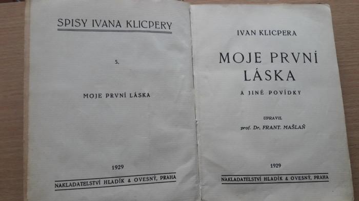 Ivan Klicpera: Moje první láska a jiné povídky