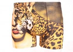 Pánske boxerky FINDROAD (H6932) - s leopardím vzorom veľkosť L