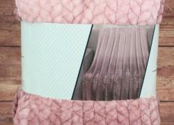 Deka dúhová s potlačeným vzorom SENDIA (200x230 cm) - ružová veľkosť 200x230 cm