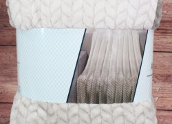 Deka dúhová s potlačeným vzorom SENDIA (200x230 cm) - béžová veľkosť 200x230 cm