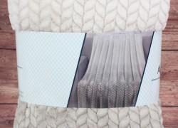 Deka dúhová s potlačeným vzorom SENDIA (150x200 cm) - béžová veľkosť 150x200 cm