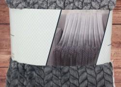 Deka dúhová s potlačeným vzorom SENDIA (150x200 cm) - sivá veľkosť 150x200 cm