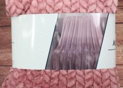 Deka dúhová s potlačeným vzorom SENDIA (150x200 cm) - ružová veľkosť 150x200 cm