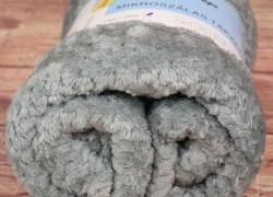 Deka flísová s potlačeným vzorom PHOPE (150x200 cm) - bledosivá veľkosť 150x200 cm