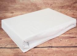 Prestieradlo na posteľ (200x200 cm) SENDIA - biele  veľkosť 200x200 cm