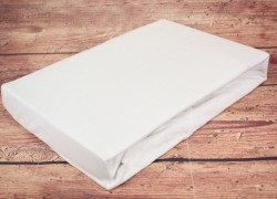 Prestieradlo na posteľ (200x230 cm) SENDIA - biele veľkosť 200x230 cm
