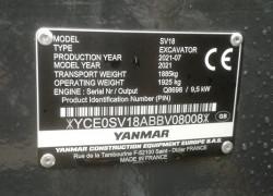 výrobný_štítok_rýpadla_yanmar_SV18_RV2021