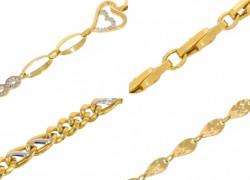Zlaté náramky Korai bez textu