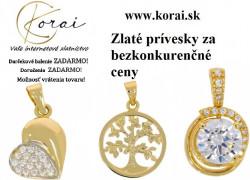 Zlaté prívesky od KORAI