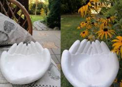 Dekorácia, miska - ruky