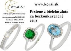 Prstene z bieleho zlata Korai 22