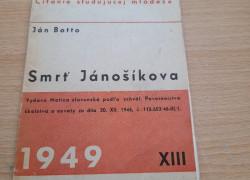 Ján Botto: Smrť Jánošíkova